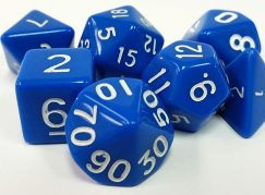 Blue Opaque Dice