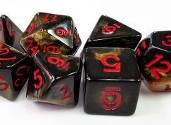 Gold and Black Marbleized Dice