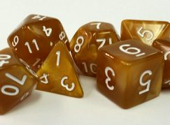 Gold Pearl Dice
