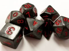 Gray Marbleized Dice