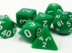 Green Opaque Dice