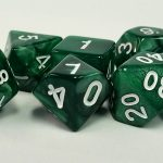 Dark Green Pearl Dice