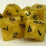 Yellow Pearl Dice