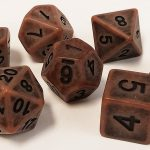 Old Boots Brown Antiqued Polyhedral Dice Set