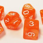 Orange Pearl Polyhedral Dice Set