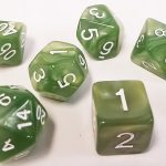 Pale Green Pearl Polyhedral Dice Set