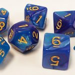 Purple/Blue Swirl Polyhedral Dice Set