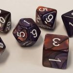 Purple/Copper Swirl Polyhedral Dice Set