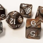 Silver/Girl Swirl Polyhedral Dice Set