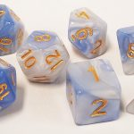 Clouds White/Blue Swirl Polyhedral Dice Set