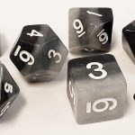 Gray Gradient Polyhedral Dice Set
