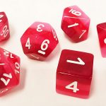 Red Gradient Polyhedral Dice Set