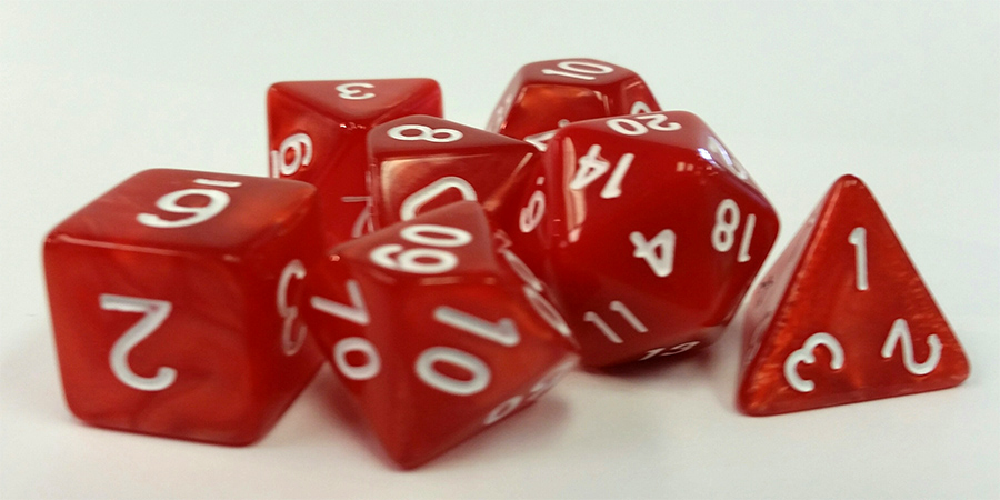 Red Pearl Dice
